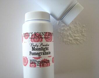 Dry Shampoo - Silky Dusting Body Powder - Moonlight Pomegranate - Talc Free - Natural - Vegan  - Bath and Body -