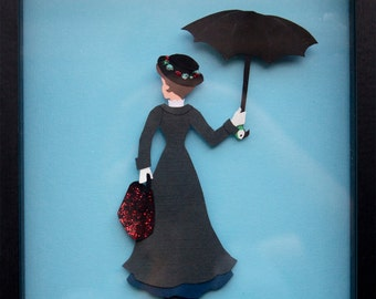 SALE Beautiful Mary Poppins Disney Inspired Paper Wall Art