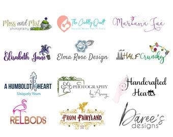 Logo Branding Package - Custom Logo Design - Branding Package - Photographer Logo - Vector Logo - Watermark - Etsy Cover - Signature Logo