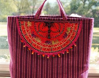 Bag Bohemian vintage embroidery