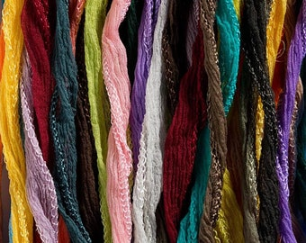 Hand Dyed Silk Ribbons - Fairy Style - Choose Your Colors