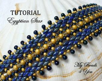 Beading Tutorial, Beading Pattern, Beadwork Bracelet Pattern, Beadweaving Tutorial, Seed Bead Tutorial, PDF Superduo Tutorial, Beaded, PDF