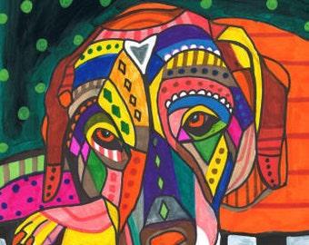 SALE NOW- Lab Art Labrador Retriever art Art Print Poster by Heather Galler (HG549)