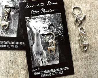 Llama stitch marker, 10 mm snag free or removable