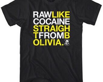 Raw Like Cocaine T-shirt - Men and Unisex - XS S M L XL 2x 3x 4x - 3 Colors