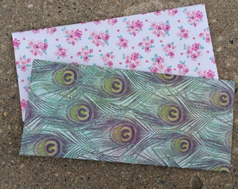 Handmade Self Sealing Envelopes Pair for Letters, Cards, Notes and Invitations