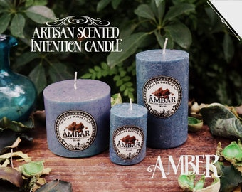 Amber Intention Candle* - Artisan Scented Candle for Purification, Healing & Wisdom