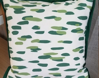 READY TO SHIP Green Brush Stroke 18x18 Pillow