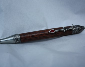 Gothica Twist Writing Pen in Red Palm Wood
