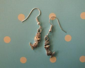 Little Mermaid Enchanted Fairytale Silver Earrings