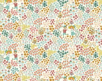Meadow Frolic Cream - Hidden Garden - Birch Fabrics - Organic Cotton - Poplin by the Yard