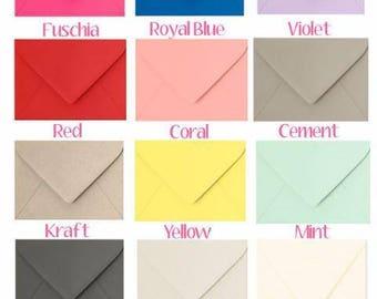 Basic Color Envelopes with Custom Liner Insert