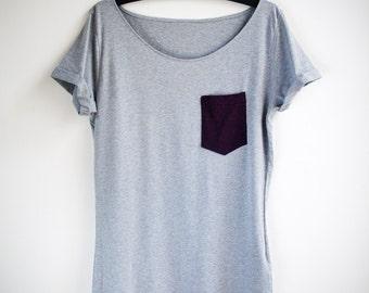 Organic Cotton Aubergine Pocket Tunic