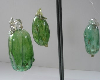Christmas pickle, Hand blown glass pickle German  Christmas Pickle glass decoration