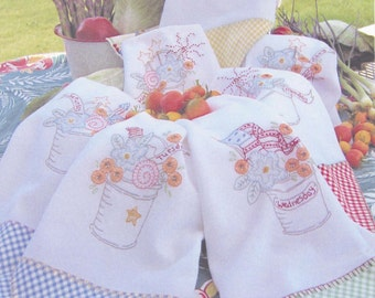 Three Cheers for the Red White and Blue Towels Stitchery Pattern by Crabapple Hill  CH 246