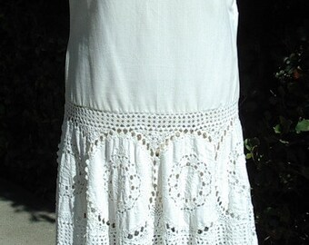 Reduced Summer Party Dress Circular Italian Cotton Lace Skirt/ Off Shoulder Bodice Size 10 Item #659  Dresses Gowns