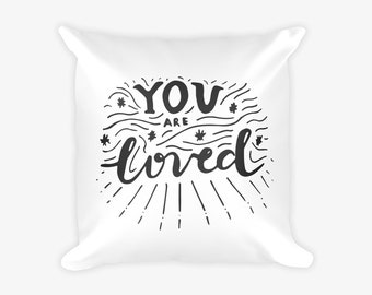 You Are Loved Word Quote Children's Print Pillow Case