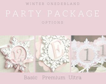 winter onederand party package - snowflake party package - snowflake girl party - snowflake party set - winter party set - winter onederland