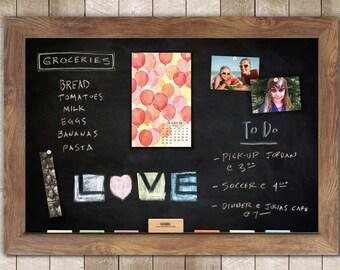 Chalkboards   Magnetic Chalkboards   Framed Chalkboards   Black Chalkboard    Custom Chalkboards - Barnboard Frame