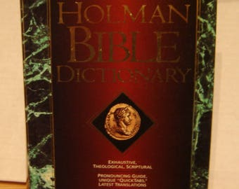 HOLMAN Bible DICTIONARY  by Trent C. Butler (Editor).  hardcover 1991