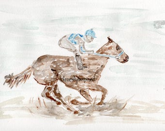 REPRINT: Derby Horse, Kentucky Derby, Watercolor, Churchill Downs