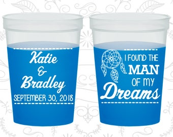I found the man of my dreams, Mood Cups, Dream Catcher Wedding, Blue Mood Cups (260)