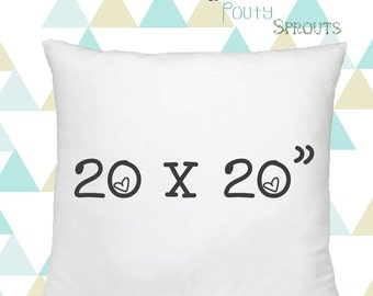 Faux Down Pillow Inserts, Soft Throw Pillows, Pillow Cushions, Couch Pillows, Throw Pillow Inserts, 20x20""