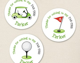 Golf Party Favor Stickers - Sheet of 12 or 24