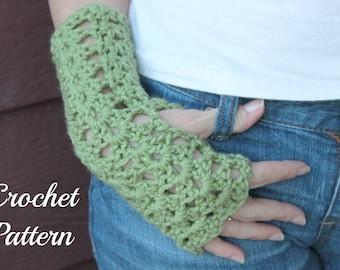 CROCHET PATTERN - Crochet Gloves Pattern, Fingerless Mittens Pattern, Fingerless Gloves Pattern, Arm Warmer Pattern, Wrist Warmer Pattern