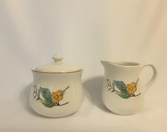Woodhill By Citation Creamer And Sugar Bowl Set