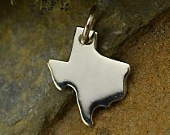 Texas State Charm, Sterling Silver Texas Charm, Texas Charm, Silver Texas Charm