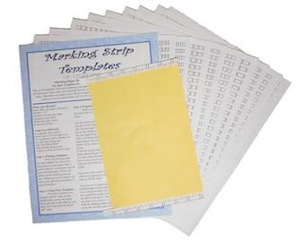 "Universal Paper Bead Sheet Marking Templates to make 2"" long beads. 17 Templates total."