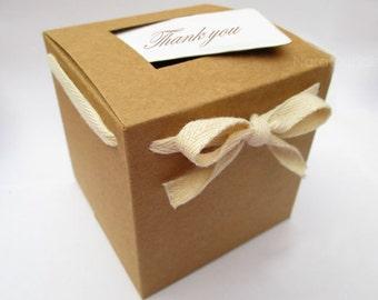 Bulk Brown Kraft Box, Gift Box, Kraft Favor Box, 4 Inch Kraft Box Set of 100