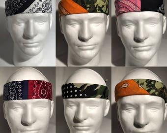 Customizable 2 pattern Split Bandanas/Headbands (100+ possible combinations!!!)