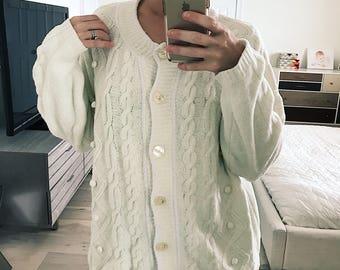 VTG 80's super soft chenille pom pom sweater