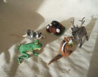 needle felted animal, large felt animals, play scape animals, play mat animals, waldorf, pre school, nursery school, kindergarten