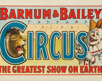 Barnum & Bailey Circus USA c. 1916 - Vintage Poster (Art Print - Multiple Sizes Available)
