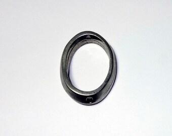 10 ovale bague connecteurs - plaque d'argent vieilli perles en étain - trou 2MM - 30 X 20MM - le prix est pour 10 connecteurs