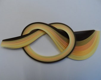 Quilling Paper . Cream, Beige and Brown, 450mm long, 100 Strips.  4 different widths available