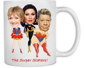 Eastenders inspired mug featuring The Slaters!