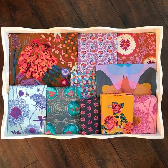 Anna Maria Horner Eclectic Floral Patchwork and Minky Blanket Made to Order