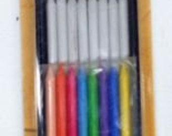 Bohin MECHANICAL CHALK PENCIL Refill Set- 8 white/8 colored chalks