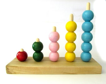 Preschool Counting Bead Stacker - Bead Stacker Counting Board - Learn to Count Bead Stacker - MDH Toys Counting Beads Stacker