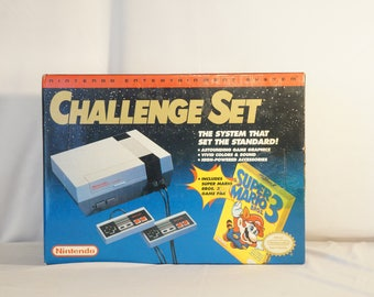 1992 NES-001 Nintendo Challenge Set minty in box!