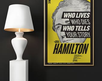 DOWNLOAD - Hamilton Musical Poster - Public Theater - 11x17
