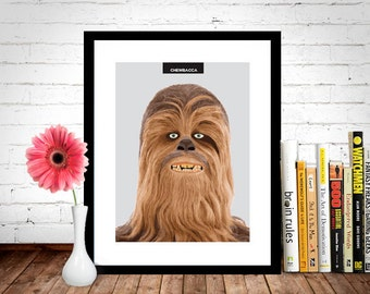 Chewbacca Star Wars Poster, Star Wars Poster, Star Wars Print, Chewbacca Poster, Chewbacca Print, Movie Poster, Film Poster, Wall Print