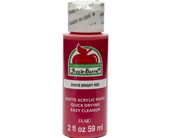 Apple Barrel Acrylic Paint - 2 oz - Bright Red