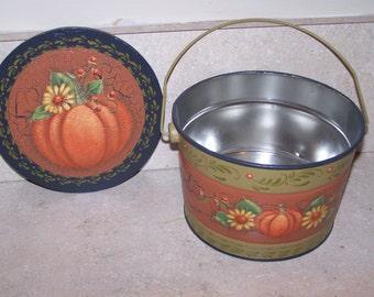 Fall Metal Bucket