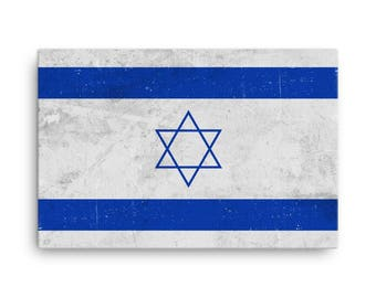 Israel Flag, Israel Flag Art, Israeli Flag, Israel Flag Wall Art, Israel Canvas, Israel Flag Print, Israel Poster, Israel Gifts, Israeli Art