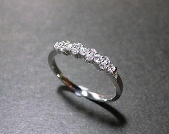 Diamond Wedding Ring in 14K White Gold, Diamond Wedding Band, Diamond Engagement Ring, Diamond Ring, Diamond Band, Personalized Jewelry